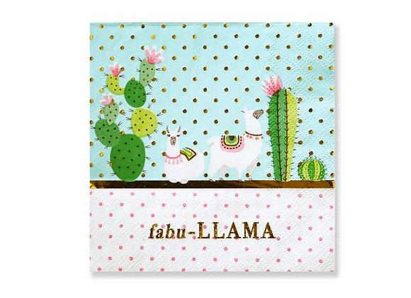 cactus llama fiesta party napkins