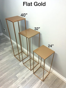 Modern Rectangle Stands, Gold Metal