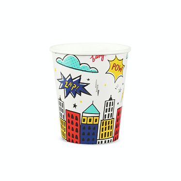 superhero 9 oz cups