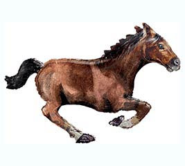 GALLOPING BROWN HORSE BALLOON
