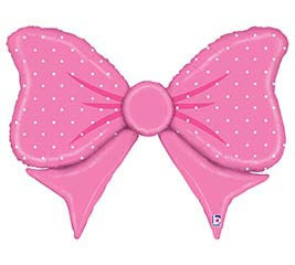 Pink Bow Balloon 43""