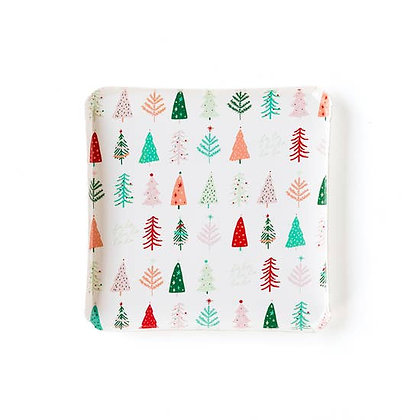 "Oui Party Christmas 9"" Trees Plate"