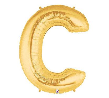 "40"" Single GOLD Letter"