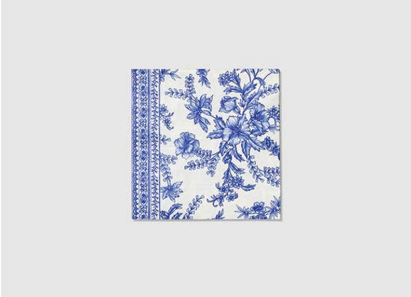 French Toile Paper Cocktail Napkins