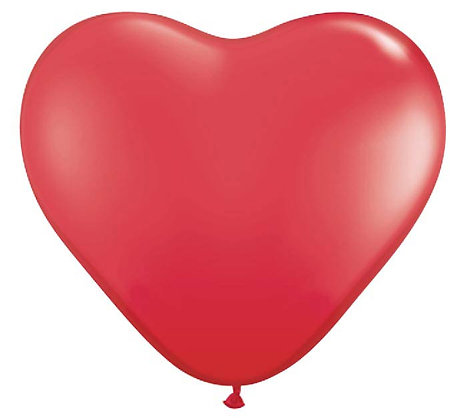 """6"""" SMALL STANDARD RED HEART"""