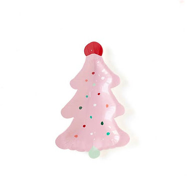 """Oui Party Christmas 7"""" Frosting Tree Plate"""