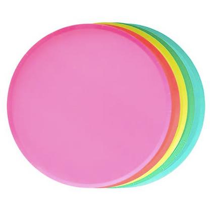 rainbow round plates