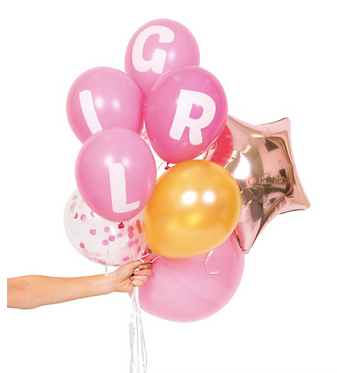 baby girl balloon pack