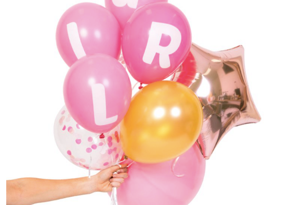 baby girl balloon pack