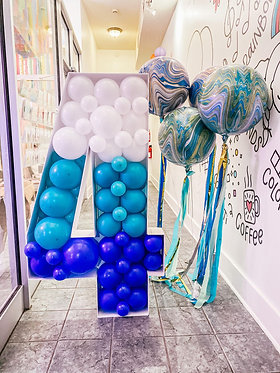 Mosaic balloon letters/numbers
