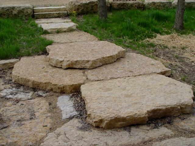 """""""big ass"""" quarry stone walk & steps"""