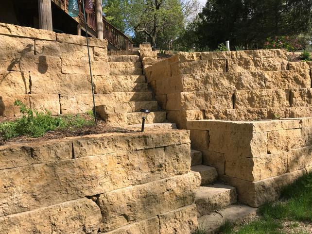 Galena Stone sawed steps