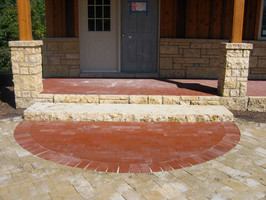 sawed step and split faces veneer