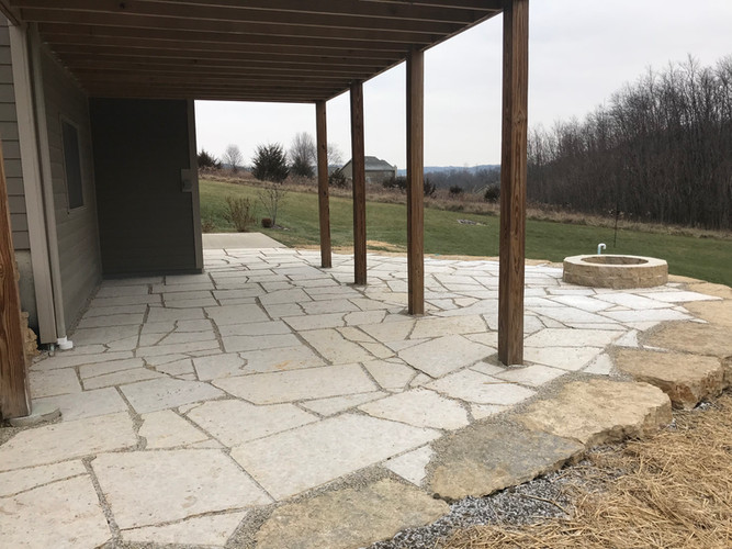 Galena sawed flagstone (with firepit)