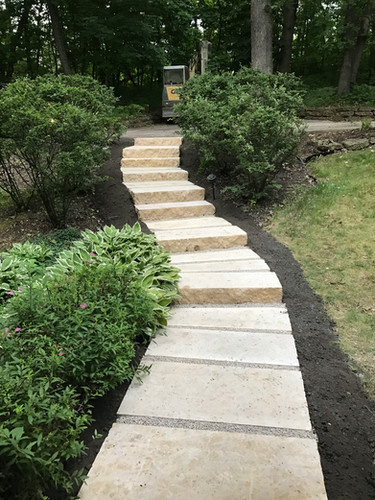 Galena Stone sawed steps with flagstone steppers