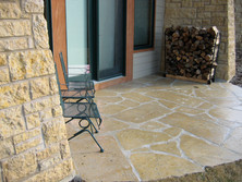 Galena sawed flagstone (set in mortar)