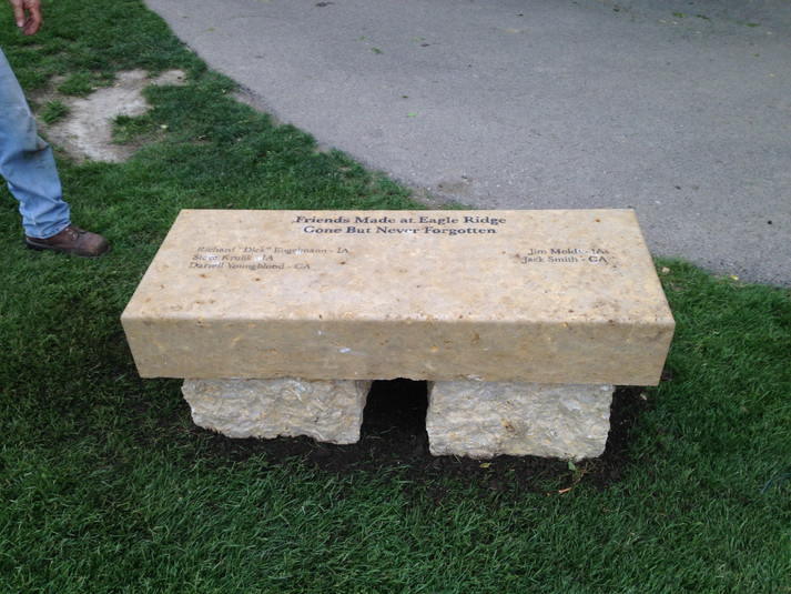 engraved bench