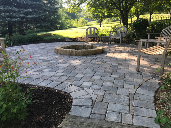 Brick pavers with firepit (patio)