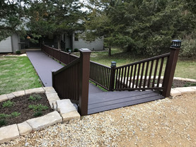 Trex decking steps with railing
