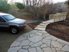 flagstone patio and walk