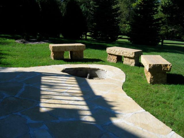 Galena sawed flagstone (set in mortar)