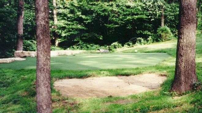 artificial putting green / with bunker