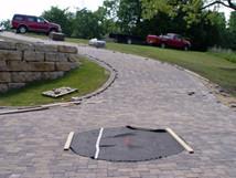 Brick pavers (driveway with centerpiece