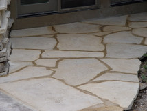 Anamosa Flagstone (set in mortar)