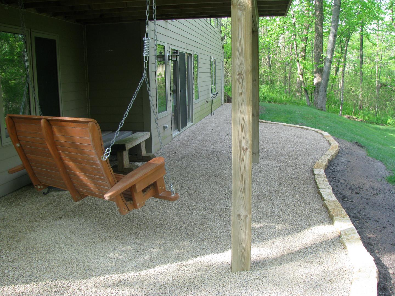 Chip stone patio