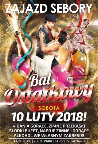 Bal Ostatkowy 10 luty 2018