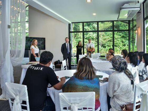 Wedding flower workshop with FlowerBazar & Moscow Flower School in Kuala Lumpur