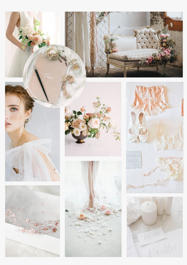 Romantic bridal morning