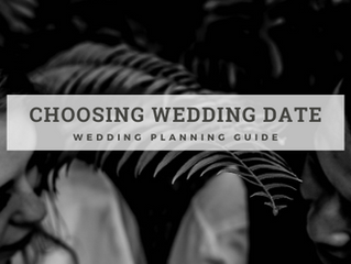 WEDDING PLANNING GUIDE: WEDDING DATE