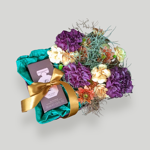 Flower gift box for cosmetic/ perfume/ jewellery