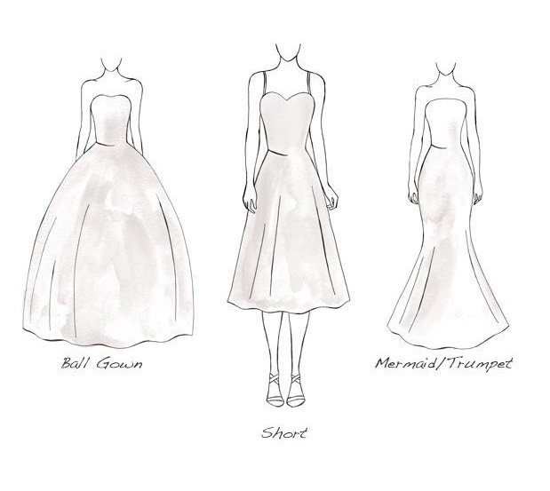 wedding dress Inverted Triangle silhouette
