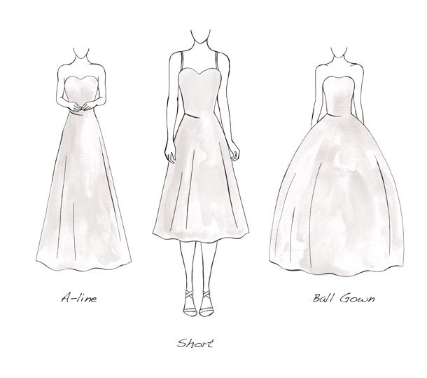 Wedding dress Triangle Silhouette