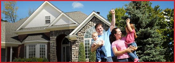 happy family enjoying clean windows by Window King