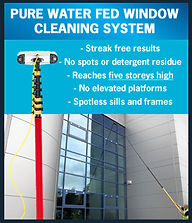 pure water fed pole cleaning system