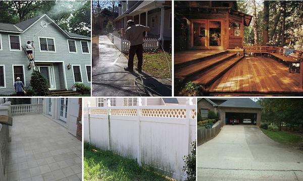 pressure washing homes patios decks sidewalks driveways stucco brick