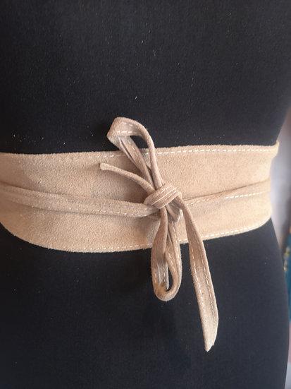 Italian suede obi belt