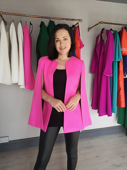 Pink tailor made cape