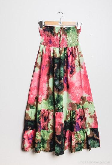 Multicolour strapless dress/skirt