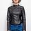 Thumbnail: Faux leather biker jacket
