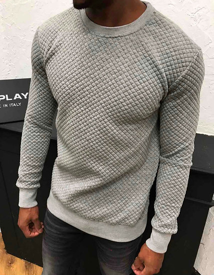 Grey quilted jumper