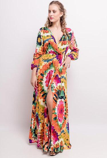 Bright print maxi dress
