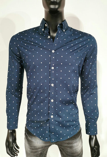 Navy spotted shirt