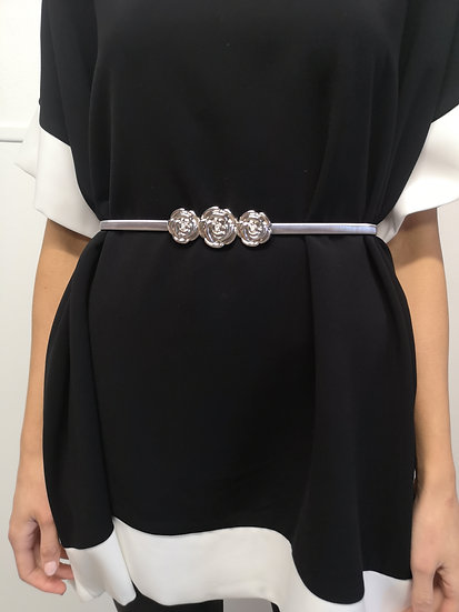 Silver rose belt