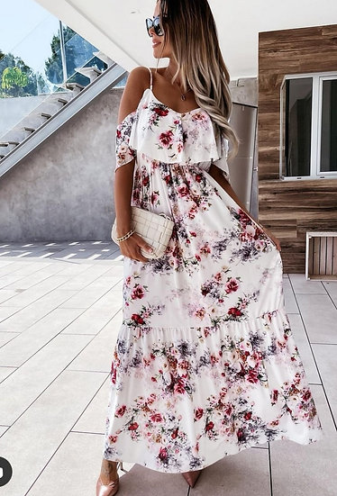 White floral maxi