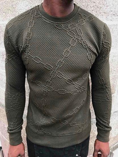 Khaki rope jumper