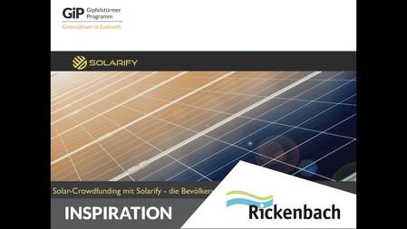 Das Startup Solarify bietet ein Gemeinschaftsinvestitions-Modell für Solar-Panels an, z.B. für Dächer von Mehrfamilienhäusern. So geht nachhaltige Energieversorgung. Der Inspirationsvortrag vom 08.02. hier zum Nachschauen.